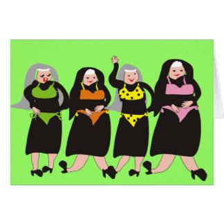 Nuns Wearing Bikinis Greeting Card