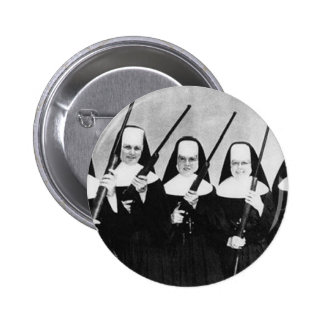 Nuns With Guns 2 Inch Round Button