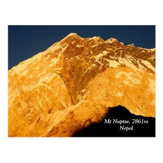 Nuptse Alpenglow Postcard