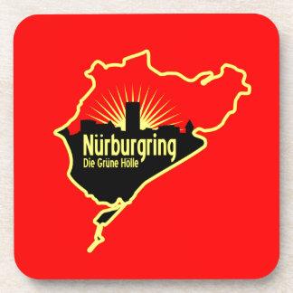 Nurburgring Nordschleife race track, Germany Beverage Coaster