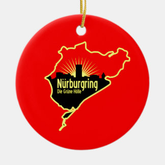 Nurburgring Nordschleife race track, Germany Ceramic Ornament