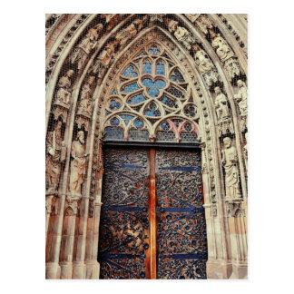 Nuremberg church door postcard
