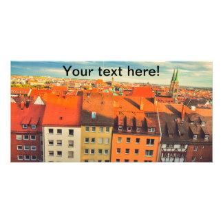 Nuremberg colorful buildings photo card
