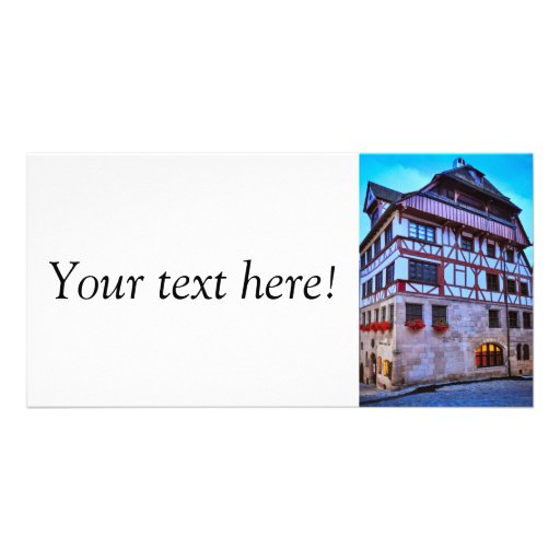 Nuremberg house personalized photo card