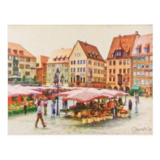 Nuremberg Market in Germany by Shawna Mac Postcard