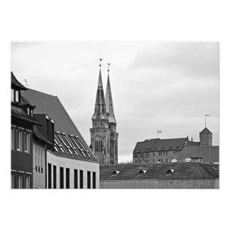 Nuremberg. The towers of the Church of St. Sebald Photo Print