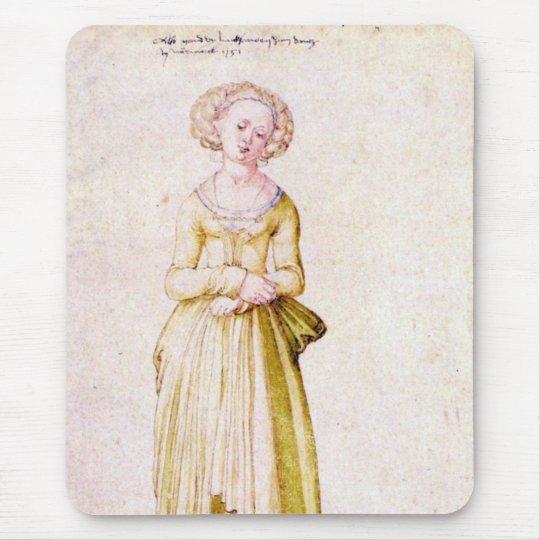 Nuremberg virgin in dance dress mouse pad