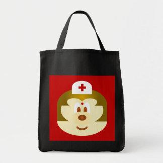 Nurse 鮑 鮑 Black Grocery Tote