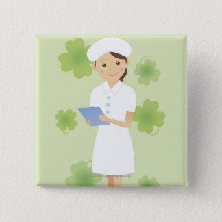 Nurse 2 Inch Square Button