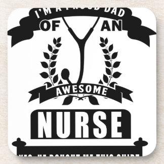nurse and dad beverage coasters