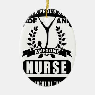 nurse and dad ceramic ornament