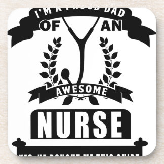 nurse and dad coasters