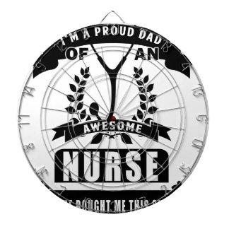 nurse and dad dartboard