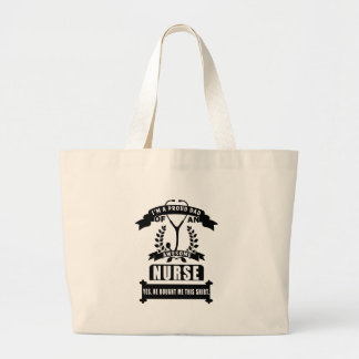 nurse and dad large tote bag