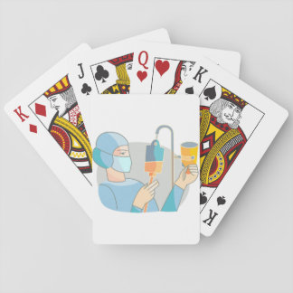 Nurse And Drip Playing Cards
