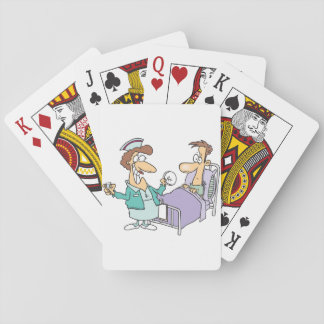 Nurse And Patient Playing Cards