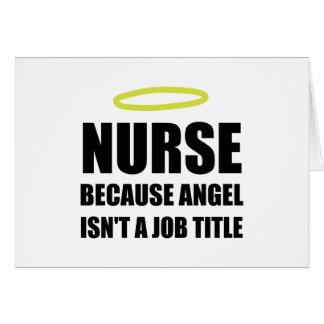 Nurse Angel Job Title Card