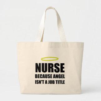 Nurse Angel Job Title Large Tote Bag