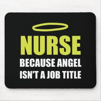 Nurse Angel Job Title Mouse Pad