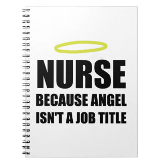 Nurse Angel Job Title Spiral Note Books