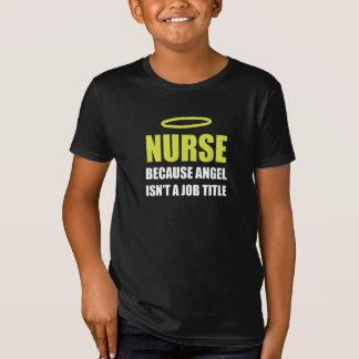 Nurse Angel Job Title T-Shirt