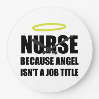 Nurse Angel Job Title Wall Clocks