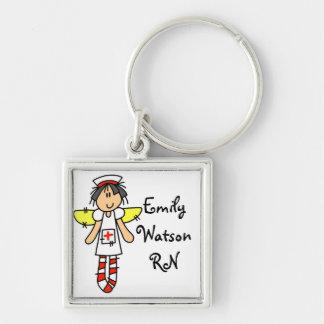 Nurse Angel Personalized Keychain