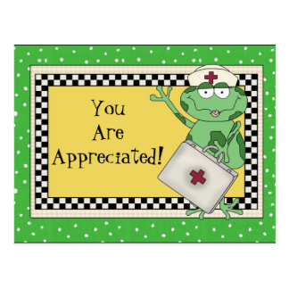 Nurse Appreciation cartoon fun postcard