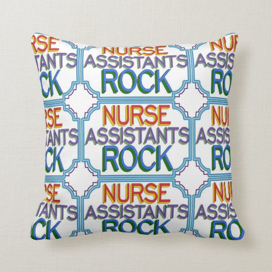 Nurse Assistants Rock Throw Pillow