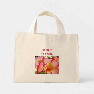 """Nurse bag I""""LL FIX IT! I'm a Nurse tote bags Roses"""