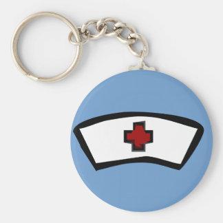 nurse basic round button keychain