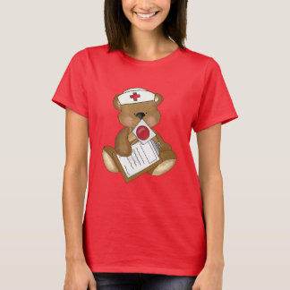 Nurse Bear Cartoon womens t-shirt