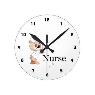 Nurse Bear Clock