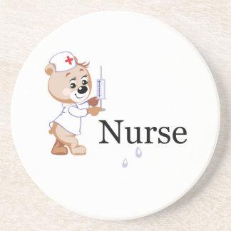 Nurse Bear Beverage Coasters