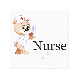 Nurse Bear Gallery Wrapped Canvas