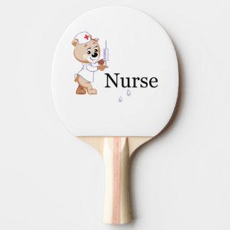 Nurse Bear Ping-Pong Paddle