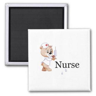 Nurse Bear Refrigerator Magnets