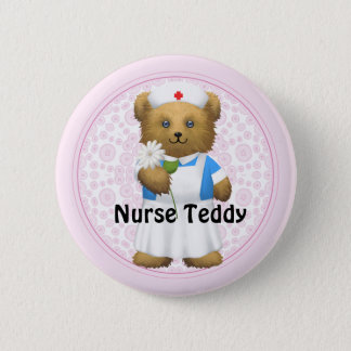 Nurse Bear - Teddy Bear 2 Inch Round Button