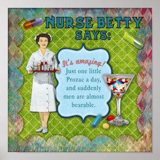 Nurse Betty Says Poster