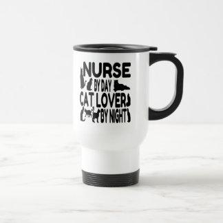 Nurse by Day Cat Lover by Night Travel Mug