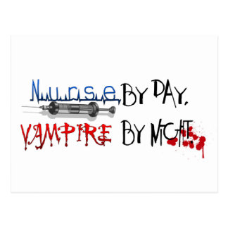 Nurse by day, Vampire by night Postcard