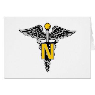 Nurse Caduceus Greeting Card