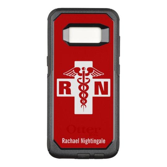 Nurse Caduceus Initials Name Template OtterBox Commuter Samsung Galaxy S8 Case
