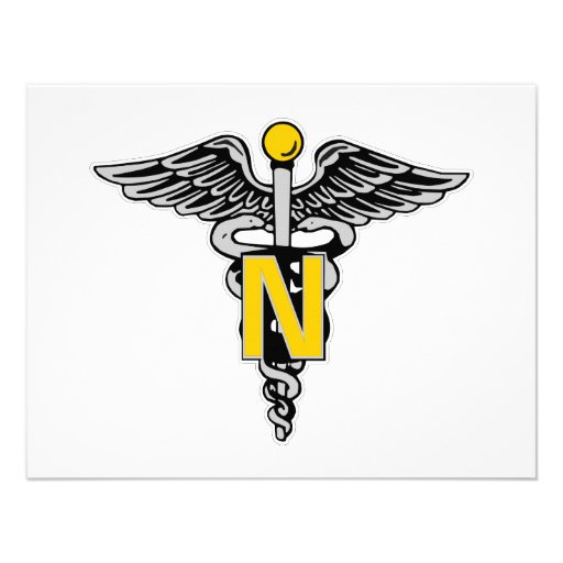 Nurse Caduceus Personalized Invitations