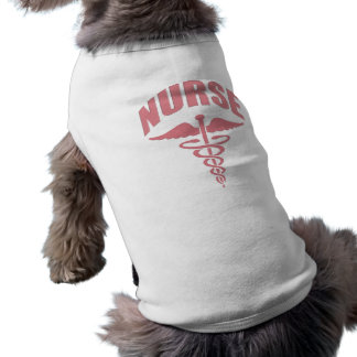 Nurse Caduceus Rose Doggie Tshirt