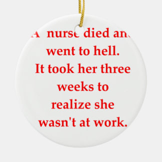 nurse ceramic ornament