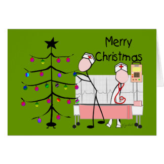 "Nurse Christmas Cards ""Merry Christmas"""