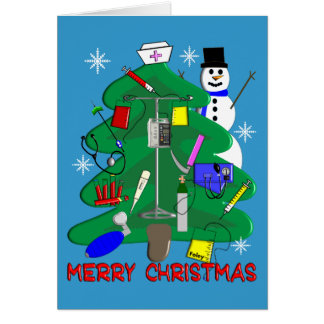 Nurse Christmas T-Shirts and Gifts Greeting Card