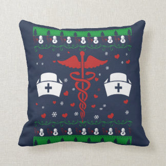 NURSE CHRISTMAS THROW PILLOW
