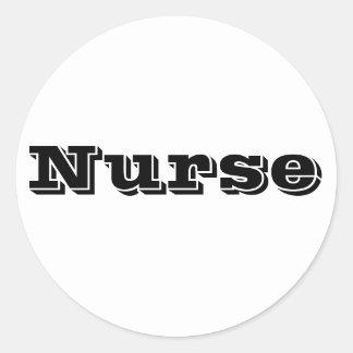 Nurse Classic Round Sticker